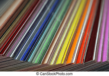 Color Swatches - These are plastic and transparent colors to...