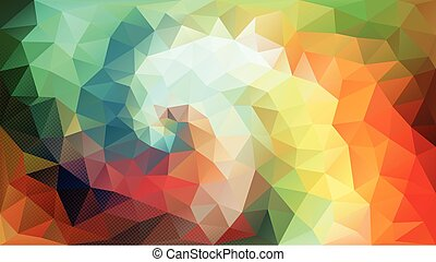 Color Swirl polygon