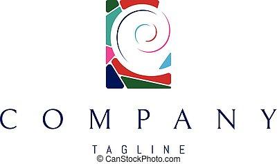 Color Swirl vector logo image