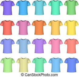 Color t-shirt design template