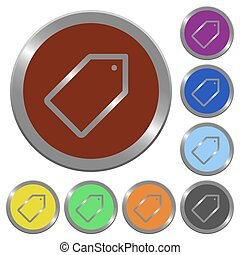 Color tag buttons