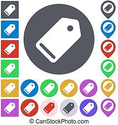 Color tag icon set