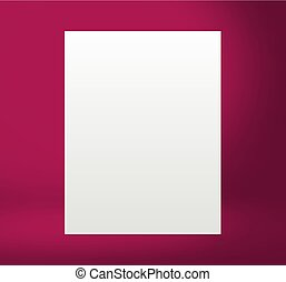 Color Template mock up for display or montage of product -...