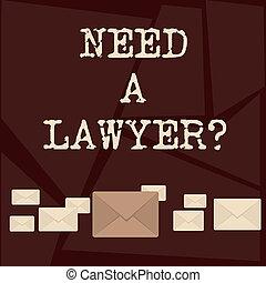color, texto, señal, abogado, necesidad, si, uno, pastel, ...