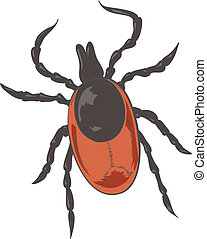 Color Tick - Vector image of big red shiny tick