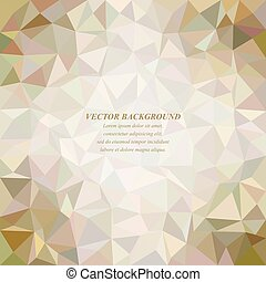 Color tiled triangle mosaic background design
