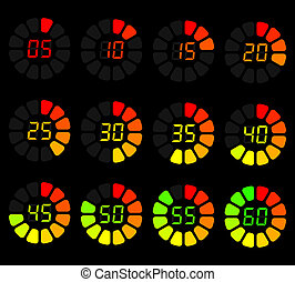 color timer - beautiful icon set timer for websites or...