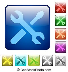 Color tools square buttons