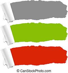 Color Torn Paper Set