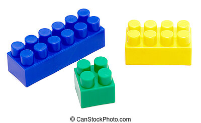 toy block - color toy block isolated on white