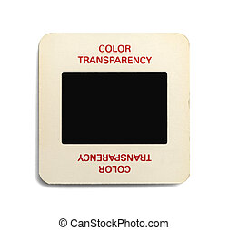 Color Transparency - Paper Slide with Copy Space Isolated on...