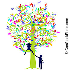 color tree and children
