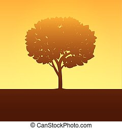 Color Tree. Vector Illustration.