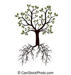 Color Tree. Vector Illustration.