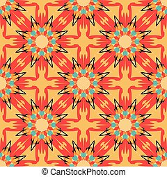 color tribal vintage seamless pattern