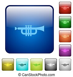 Color trumpet square buttons