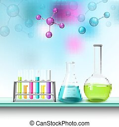 color, tubos, composición, moléculas