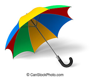 Color umbrella isolated on white background