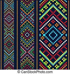 Color variants ethnic ornament