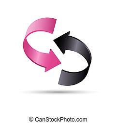 Color vector arrows 3d