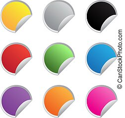 color vector glossy stickers
