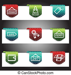 Color vector icons set. Vector navigation template