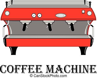 Color vector illustration of the coffee machine.