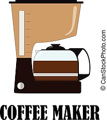 Color vector illustration of the coffee maker.