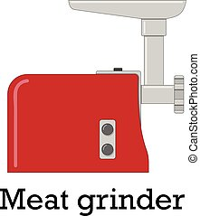 Color vector illustration of the meat grinder.