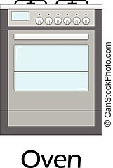 Color vector illustration of the oven.