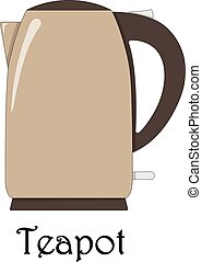 Color vector illustration of the teapot.