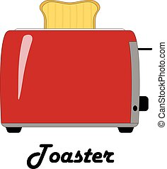 Color vector illustration of the toaster.