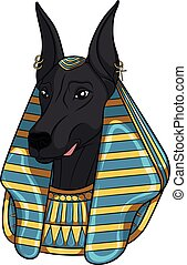 Color vector image Anubis. Isolated object.