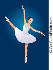 ballerina on a blue background