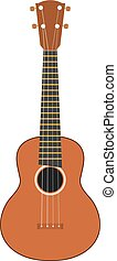 Color vector image of a musical instrument - Hawaiian guitar - on a white