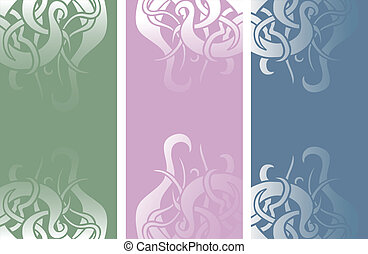 Color vertical banners