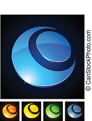 Color vibrant emblems.