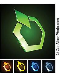 Color vibrant emblems. - Vector illustration of diamond...