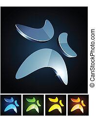 Color vibrant emblems. - Vector illustration of shiny ...