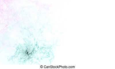 Color video of the galaxy, multicolored nebula or watercolor paint in the water