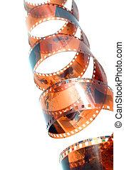 color, viejo, negativo, película
