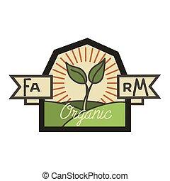 Color vintage farm emblem