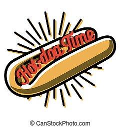 Color vintage fast food emblem