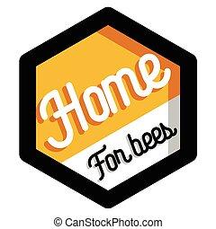 Color vintage honey emblem