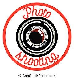 Color vintage photographer emblem