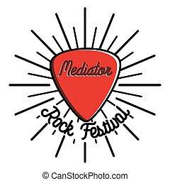 Color vintage rock emblem