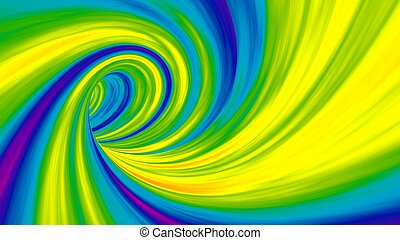 color vortex effect. wide format background.