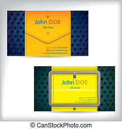 Color waistband design business card