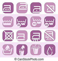 color washing icons set