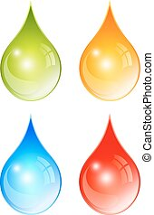 Color water drops